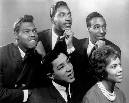 "Motown group The Miracles were the first successful group for Berry Gordy's Motown Records label. ""Shop Around"" (1960), ""I Second That Emotion"" (1967) and ""The Tears of a Clown"" (1970) rank highly among their top hits. While members cycled in and out over the 50+ year span, the originals are seen here posing in 1963. From left to right: Pete Moore, Bobby Rogers, Ronald White, Claudette Robinson and Smokey Robinson. Photo: Michael Ochs Archives, Getty / Michael Ochs Archives"
