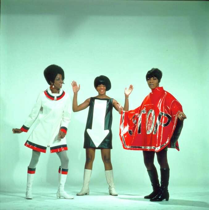 """Martha and Vandellas, seen here dressed in silly costumes in 1960, produced a streak of solid hits including """"Nowhere to Run"""" (1965), """"Jimmie Mack""""  (1967), and """"Dancing in the Street"""" (1964). Photo: Michael Ochs Archives, Getty / Michael Ochs Archives"""