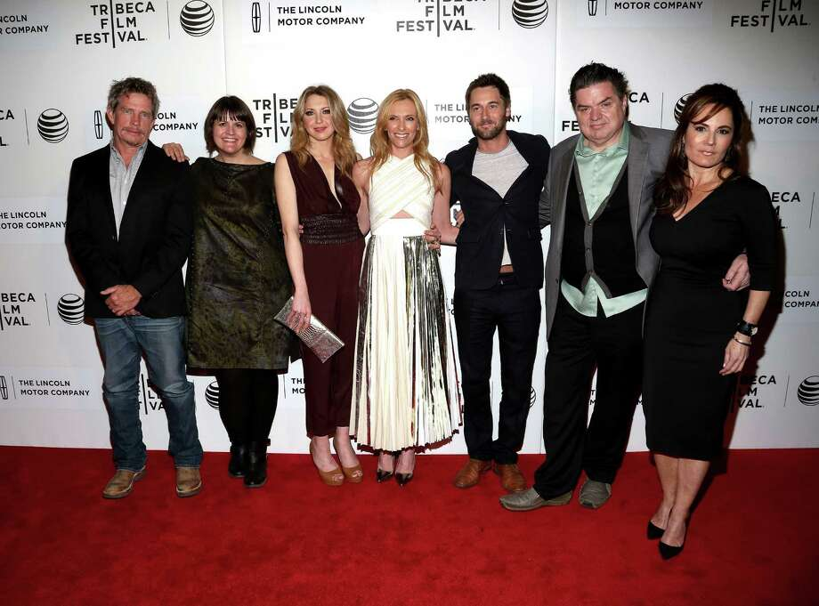 NEW YORK, NY - APRIL 21:  (L-R) Thomas Haden Church, Megan Griffiths, Nina Arianda, Toni Collette, Ryan Eggold, Oliver Platt and Emily Wachtel attend the 'Lucky Them' Premiere during the 2014 Tribeca Film Festival at BMCC Tribeca PAC on April 21, 2014 in New York City. Photo: Paul Zimmerman, WireImage / Getty Images