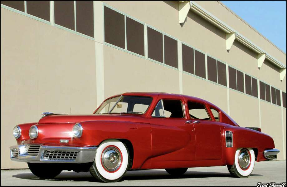 This red beauty is a 1948 Tucker No. 1050, on display at Dick's Classic Garage in San Marcos. Photo: Trent Sherrill