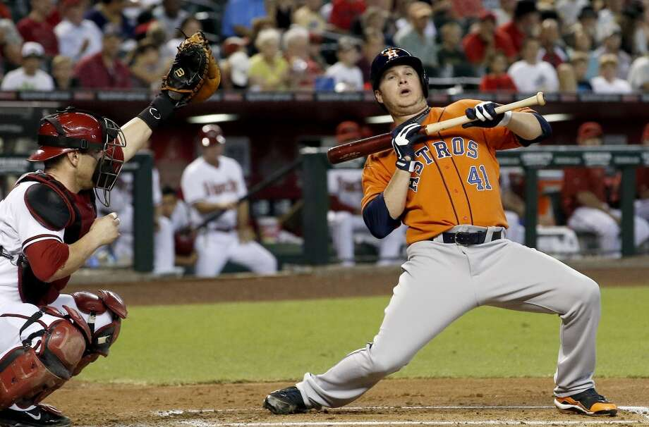 June 10: Diamondbacks 4, Astros 1Paul Goldschmidt got the party started for Arizona with a solo homer in the 1st inning and Bronson Arroyo took it from there as the Diamondbacks split the two-game series.  Record: 29-37. Photo: Ross D. Franklin, Associated Press
