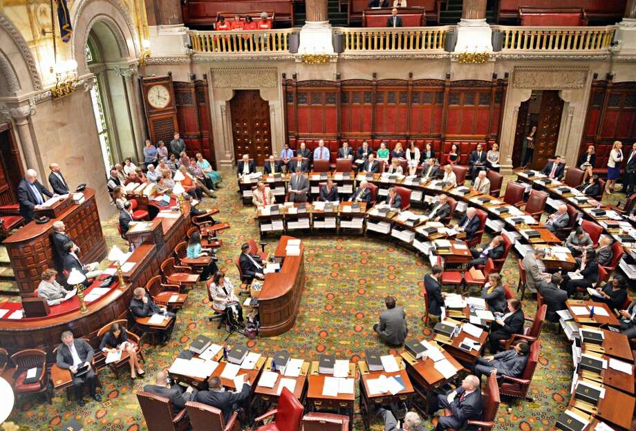 Senators debate bills during session Tuesday June 10, 2014, at the Capitol in Albany, NY.  (John Carl D'Annibale / Times Union) Photo: John Carl D'Annibale, Albany Times Union