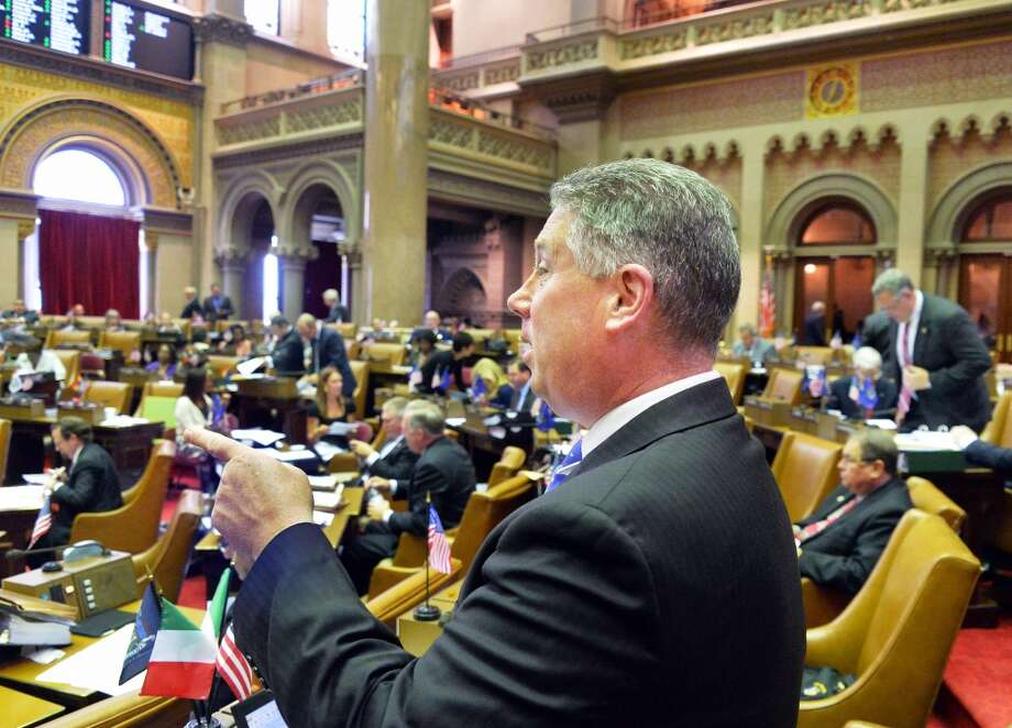 NYS Assemblyman John McDonald during session at the Capitol Tuesday June 10, 2014, in Albany, NY.  (John Carl D'Annibale / Times Union) Photo: John Carl D'Annibale, Albany Times Union
