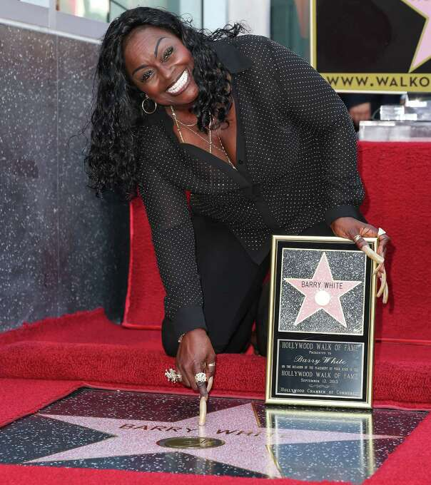 Barry White died July 4, 2003. Here, singer Glodean White (wife of Barry White) poses for a photo as the late Barry White was honored posthumously with a star on the Hollywood Walk of Fame on September 12, 2013 in Hollywood. Photo: Imeh Akpanudosen, Getty / 2013 Imeh Akpanudosen