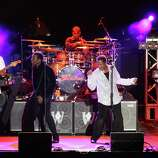 Tito Jackson, Jackie Jackson, Marlon Jackson and Jermaine Jackson continue to perform as The Jacksons today. Here, the group gives a show in Coney Island on August 11, 2012.