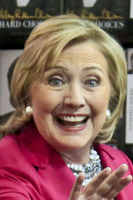 Hillary Rodham Clinton arrives for a book signing in New York. / AP