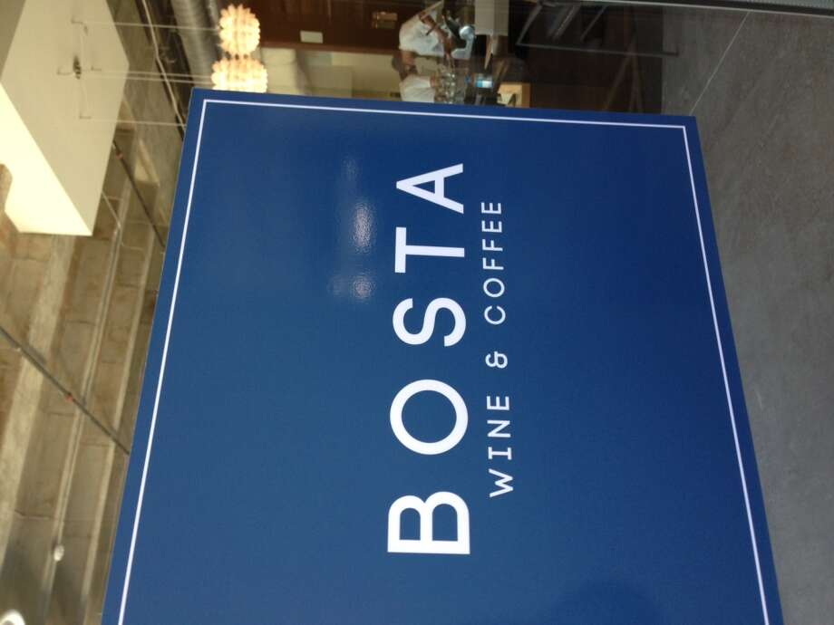 Door to Bosta, the new wine and coffee bar in the Parc Binz building. (Photo: Greg Morago)