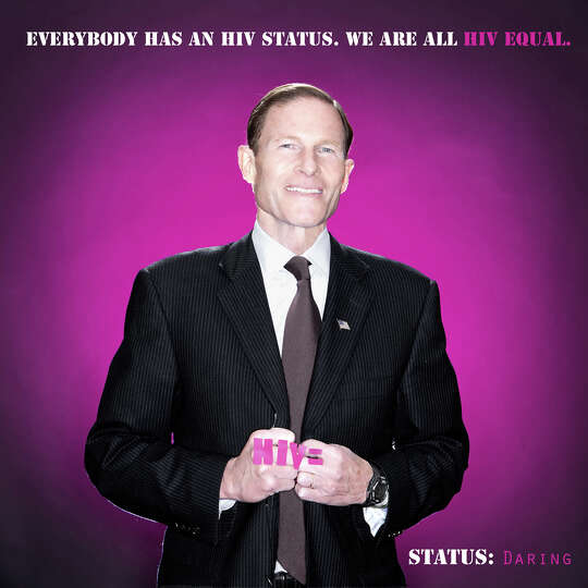 U.S. Sen. Richard Blumenthal, D-Conn., is shown in a poster for the HIV Equal project (http://www.hi