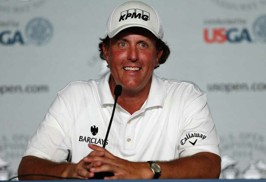 PINEHURST, NC - JUNE 10:  Phil Mickelson of the United States talks to the media during a press conference prior to the start of the 114th U.S. Open at Pinehurst Resort & Country Club, Course No. 2 on June 10, 2014 in Pinehurst, North Carolina.  (Photo by Tyler Lecka/Getty Images) ORG XMIT: 461911043 Photo: Tyler Lecka / 2014 Getty Images