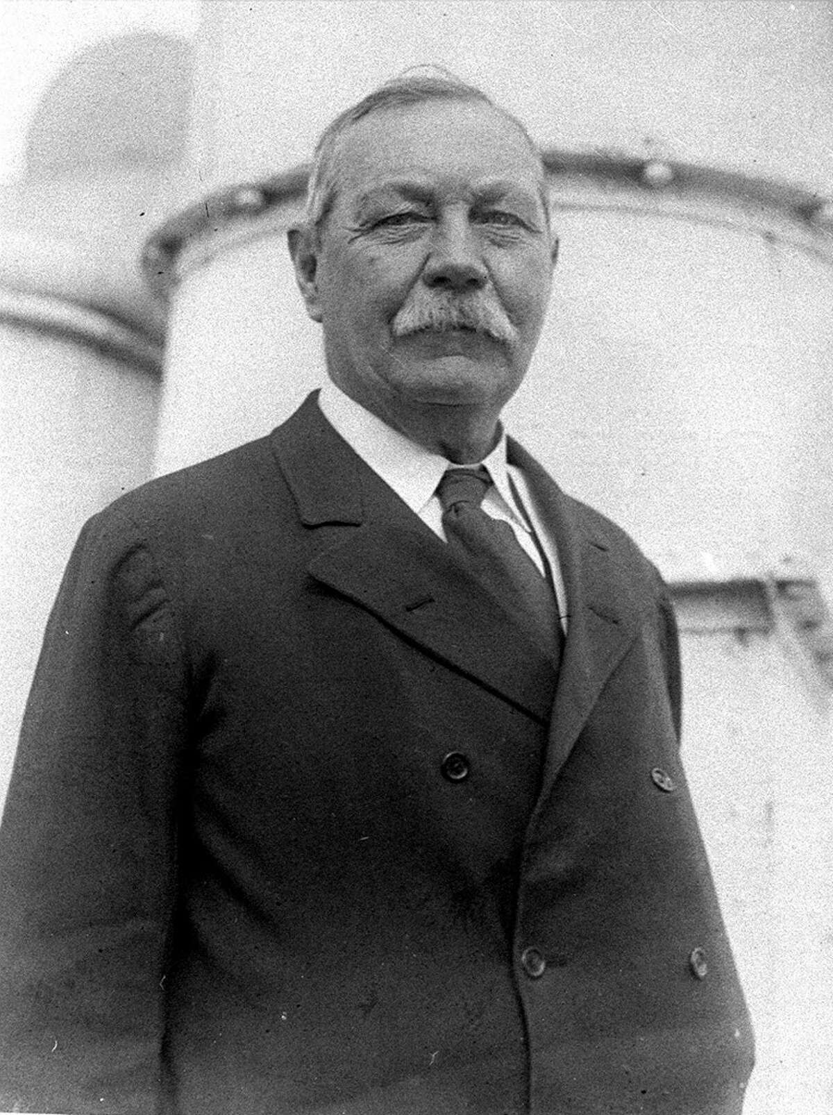Sir Arthur Conan Doyle, the creator of the detective character Sherlock Holmes, is shown in an April 1923 photo. (Associated Press Photo/File)