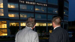 Friends and benefactors of St. Peter's Hospital attend the dedication of the Hearst Pavilion during the closing celebration of the Cornerstone Campaign, which raised more than $35 million, in Albany on Tuesday, June 10, 2014.