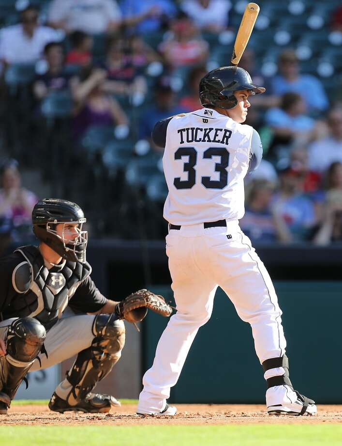 Corpus Christi Hooks Preston Tucker in the batters box during the second inning of Minor League Baseball game action against the San Antonio Missions at Minute Maid Park Tuesday, June 10, 2014, in Houston. ( James Nielsen / Houston Chronicle ) Photo: James Nielsen, Houston Chronicle