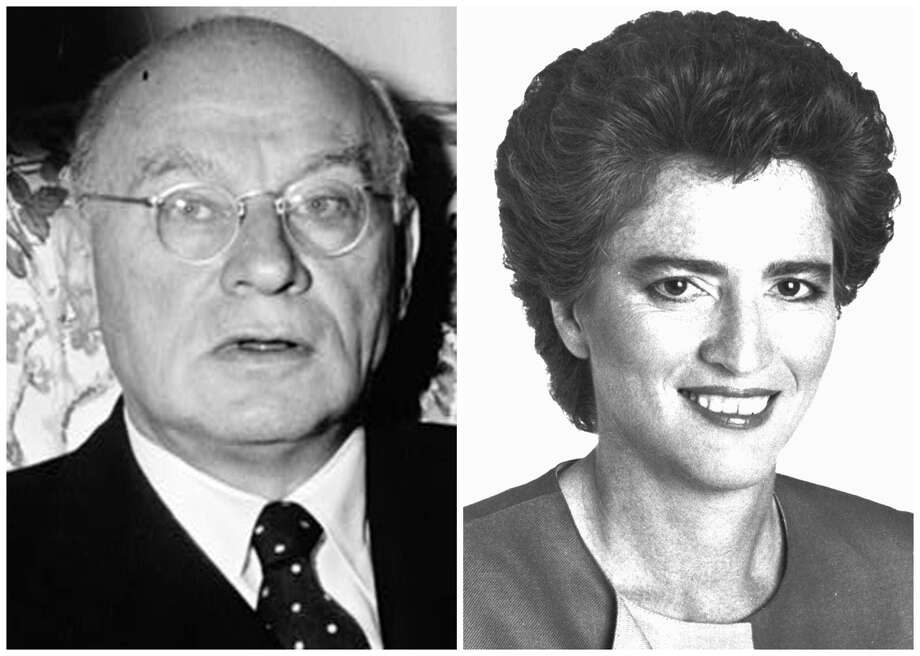 This combination of Associated Press file photos made available by the Library of Congress, shows, left, Emanuel Cellar and right, Elizabeth Holtzman. In 1972, New York district attorney Elizabeth Holtzman upset 50-year incumbent Emanuel Cellar, then chairman of the House Judiciary Committee and the House's longest serving member. Photo: File, AP / AP