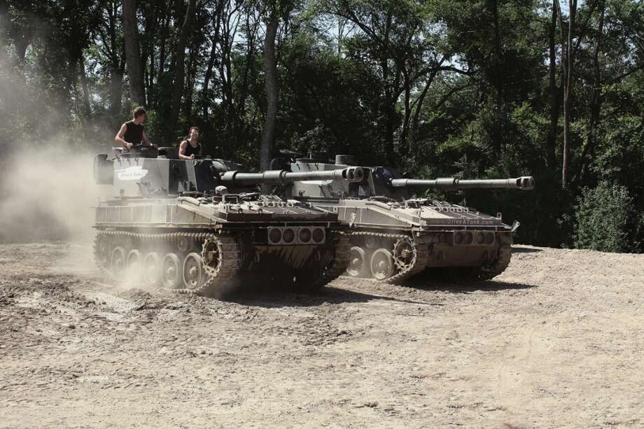 Two Abbot self-propelled guns.