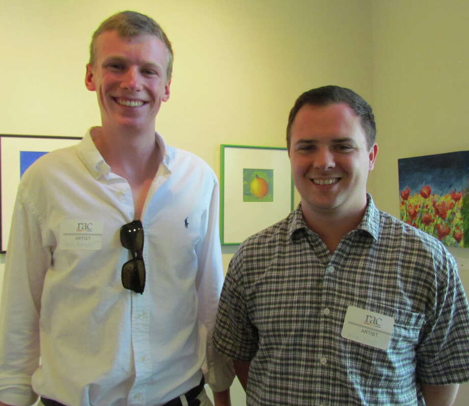 "Darien photographers Burr Tweedy, left, and Kyle King were winners in the Rowayton Arts Center's ""Focus Under 40 juried exhibition. Photo: Contributed Photo, Contributed / Darien News"