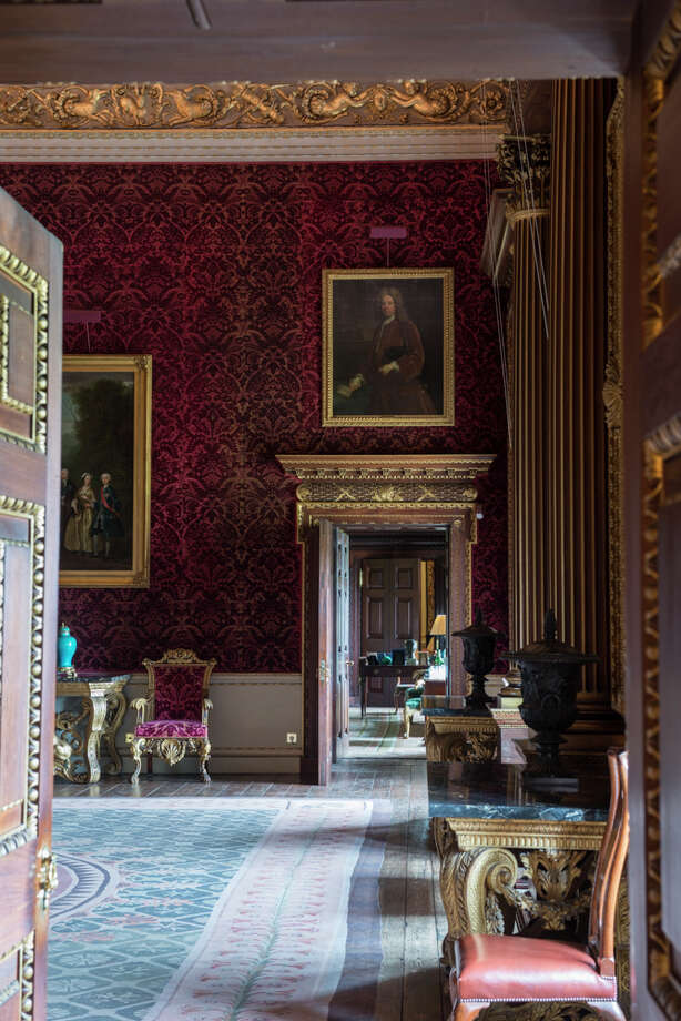 The saloon at Houghton Hall, decorated in the 1720s by William Kent. Photo: James Merrill / ONLINE_YES