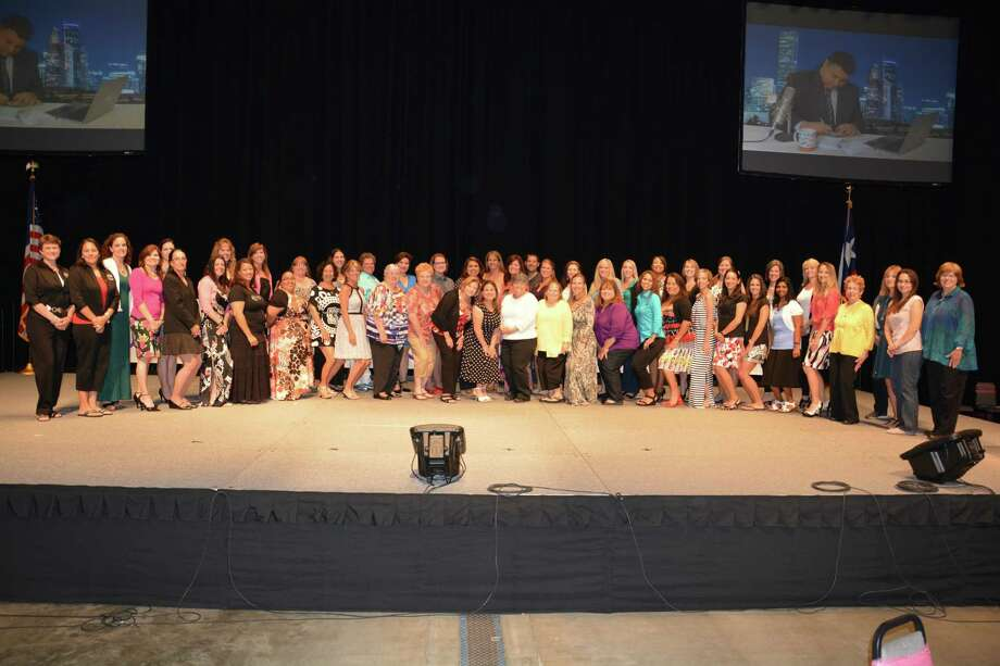 Katy Independent School District recently celebrated another successful year of volunteerism through its VIPS program by honoring the 2013-14 Campus Volunteers of the Year. More than 17,000 parent volunteers donated more than 838,460 hours this school year. Photo: Katy ISD