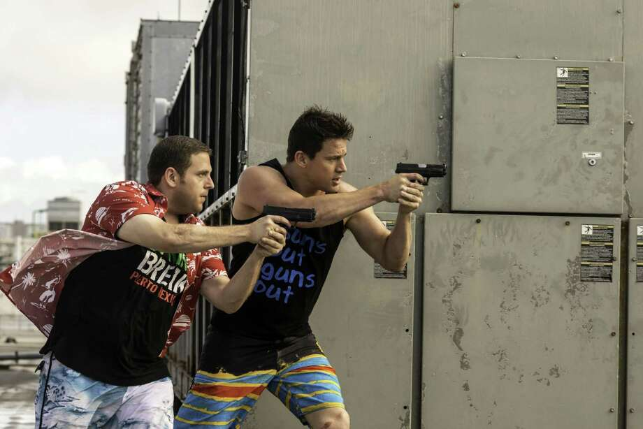 """This image released by Sony Pictures shows Jonah Hill, left, and Channing Tatum in Columbia Pictures' """"22 Jump Street."""" (AP Photo/Sony Pictures, Glen Wilson) Photo: Glen Wilson, HOEP / Sony, Columbia Pictures"""