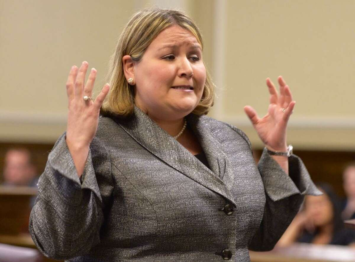 Rensselaer County Assistant District Attorney Krista Book begins her closing remarks in the Adrian Thomas murder case. (Skip Dickstein/Times Union)