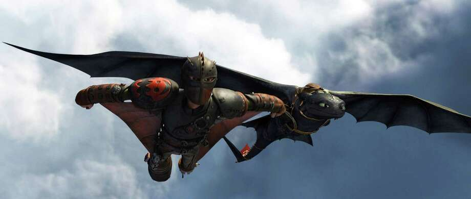 "This image released by DreamWorks Animation shows the character Hiccup, voiced by Jay Baruchel, in a scene from ""How To Train Your Dragon 2."" (AP Photo/DreamWorks Animation) ORG XMIT: NYET502 Photo: DreamWorks Animation / DreamWorks Animation"