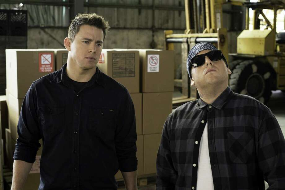 "This image released by Sony Pictures shows Jonah Hill, right, and Channing Tatum in Columbia Pictures' ""22 Jump Street."" (AP Photo/Sony Pictures, Glen Wilson) ORG XMIT: NYET524 Photo: Glen Wilson / Sony, Columbia Pictures"