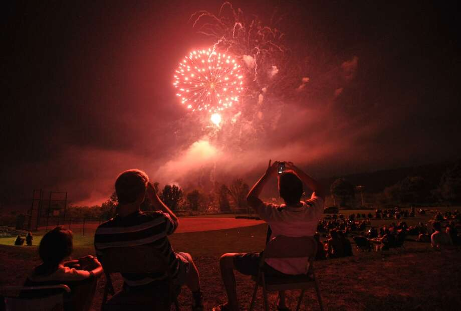 The Ridgefield Volunteer Fire Department Carnival's fireworks show will be on Friday at East Ridge Middle School. Click here for a guide to fireworks in SW CT.  Photo: Jason Rearick