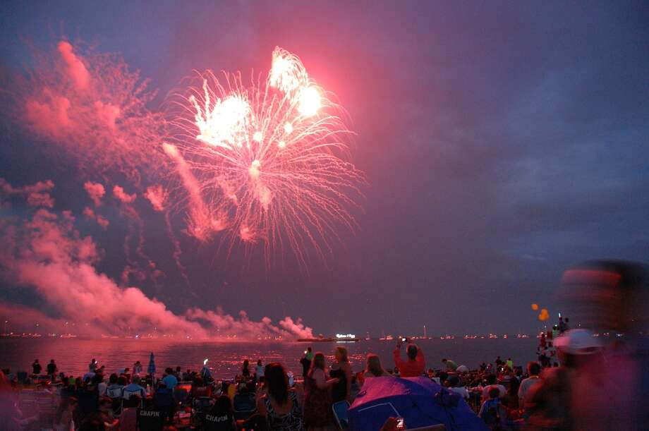 UPDATE: The Independence Day Fireworks Celebration will be held in Westport's Compo Beach on Monday. July 7. It has been postponed from Thursday because of expected rain. Photo: Jarret Liotta