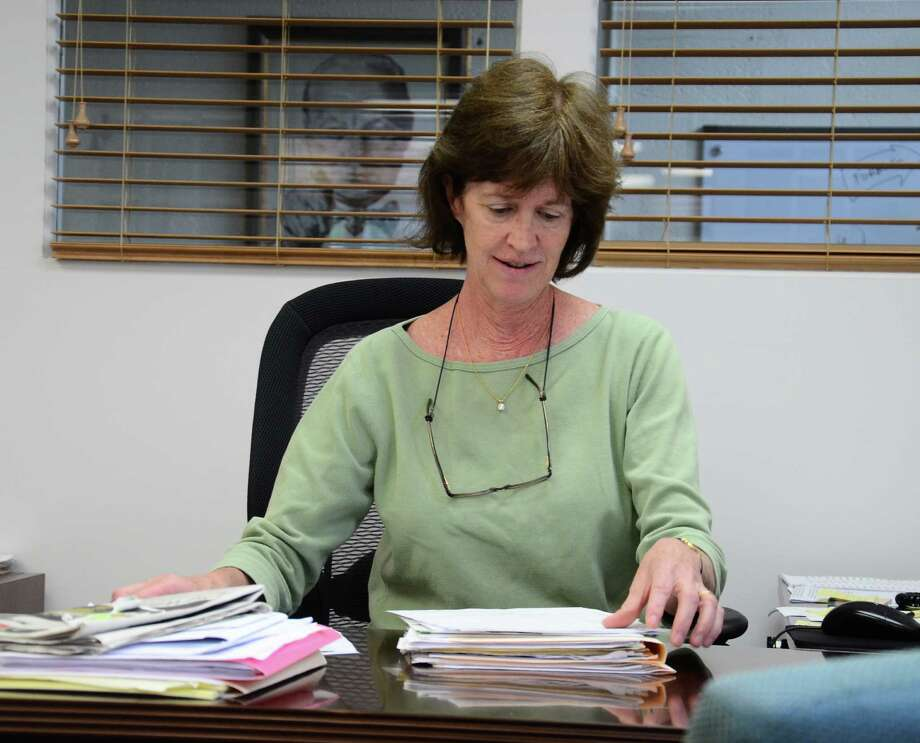Staying Put of New Canaan's Executive Director Jane Nyce at the organization's office in New Canaan, Conn., on Friday, June 6, 2014. Nyce is retiring from Staying Put seven years after she was promoted from an intern position to help found the nonprofit group. Photo: Nelson Oliveira / New Canaan News
