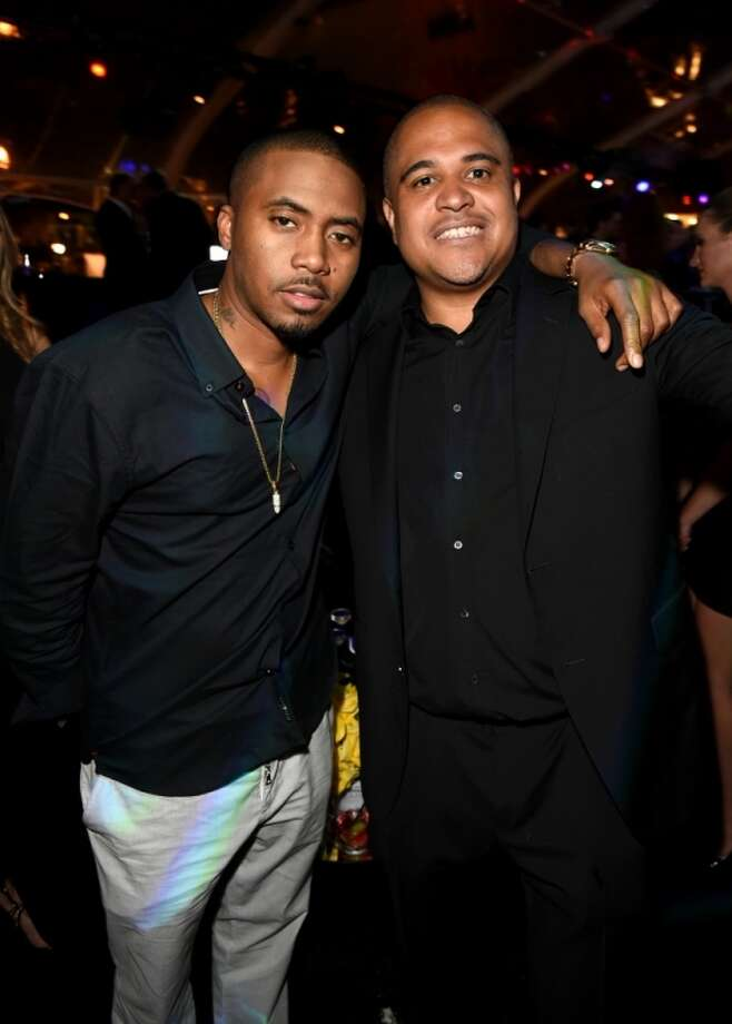 Rapper Nas and producer Irv Gotti attend Maxim's Hot 100 Women of 2014 celebration and sneak peek of the future of Maxim at Pacific Design Center on June 10, 2014 in West Hollywood, California. Photo: Jason Merritt, Getty Images For MAXIM