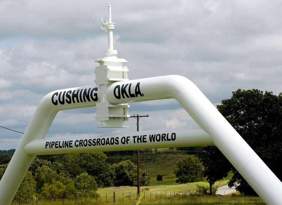 No. 4 Oklahoma  GDP growth (2013): 4.2%  Oil production rank (Feb. 2014): 5  Natural gas production rank (2012): 4   [Photo: The marker that welcomes commuters to Cushing, a major U.S. oil hub in Oklahoma.] Photo: Matt Strasen, Associated Press