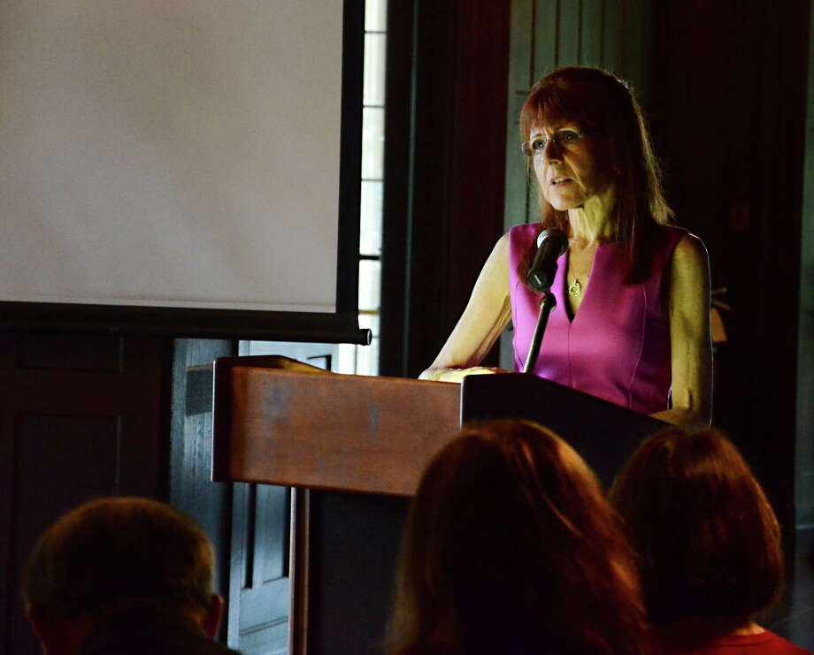 Superintendent of Schools Mary Kolek, who is retiring this month, was honored during a special party at Waveny House in New Canaan, Conn., Tuesday, June 10, 2014. Photo: Nelson Oliveira / New Canaan News