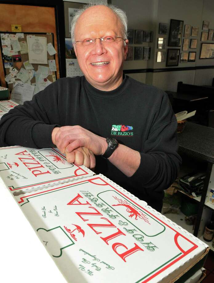 Rocco DeFazio of DeFazio's Pizza at his pizzeria on Fourth Street in Troy Wednesday March 14, 2012.    (John Carl D'Annibale / Times Union) Photo: John Carl D'Annibale / 00016810A