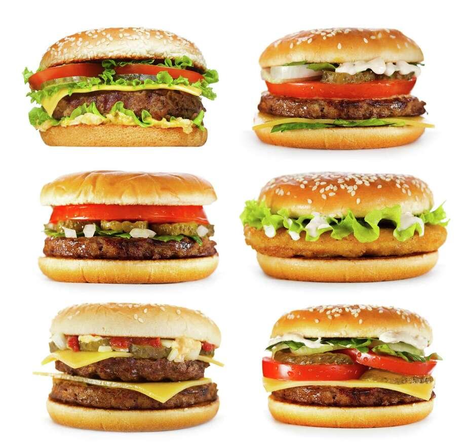 set of various hamburgers isolated on white background / Fotolia / Nitr - Fotolia