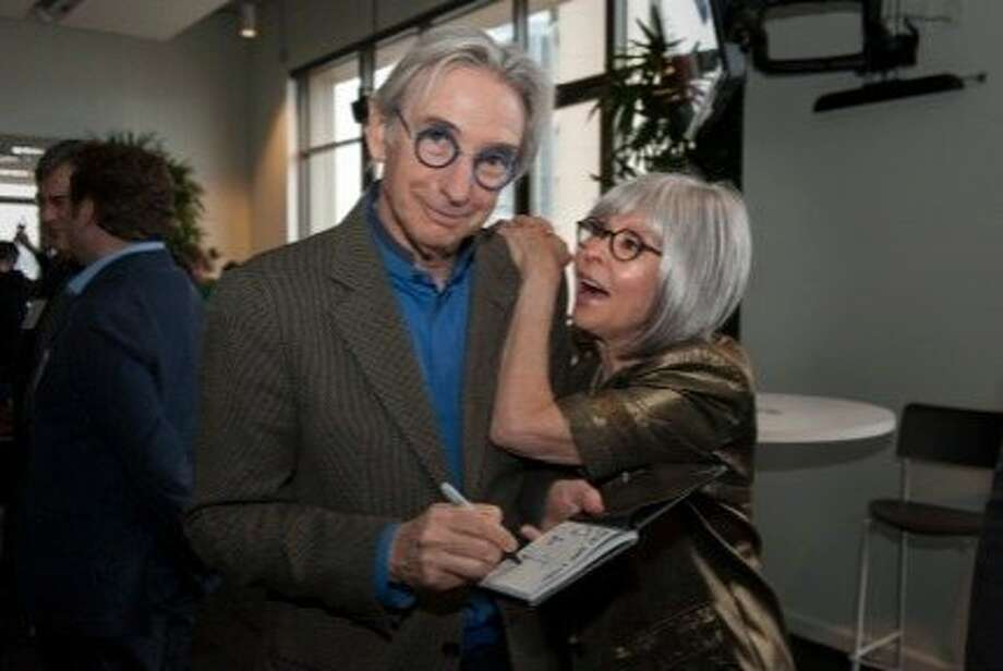 "Michael Tilson Thomas and Rita Moreno salute the S.F. Symphony's ""West Side Story"" CD at the release party. Photo: Stefan Cohen"