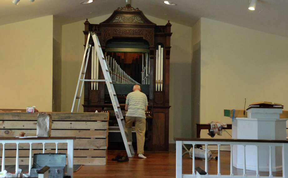 An organ built before 1850 has been re-assembled and restored at Our Saviour's Lutheran Church, after it was donated by a closed congregation in New York. Photo: Jarret Liotta / Fairfield Citizen