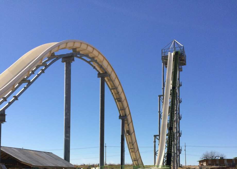 The Verruckt in Kansas City, Kan., towers over the Schlitterbahn Waterpark at 168 feet and 7 inches tall.