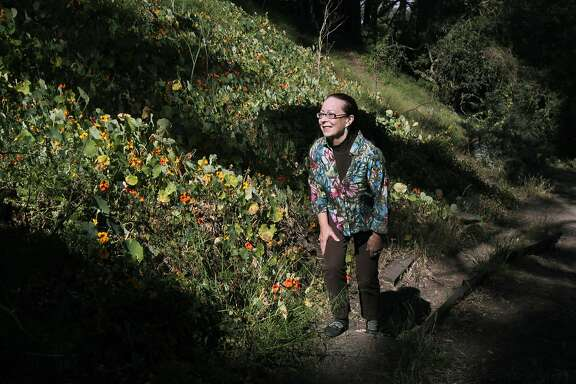 Isabel Wade hikes up a trail which, she says, is in need of repair at Buena Vista Park in San Francisco, Calif. on Wednesday, June 11, 2014. Residents who live near Buena Vista Park complain that some aspects of San Francisco's oldest park have fallen to disrepair. Specifically that some trails have been severely eroded, there are a number of old trees that run the risk of dropping limbs on park users and maintenance staff and that piles of old wood lie on the ground for weeks creating a fire hazard.