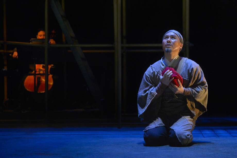 "Country doctor Cheng Ying (BD Wong) pledges to protect the remaining male member of the overthrown Zhao clan in American Conservatory Theater's ""The Orphan of Zhao."" Photo: Kevin Berne"