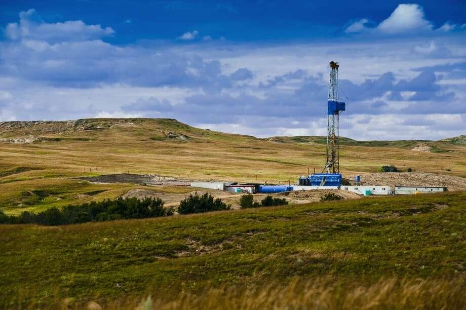 An oil rig works in North Dakota's oil patch in 2010. Photo: North Dakota Petroleum Council , Associated Press