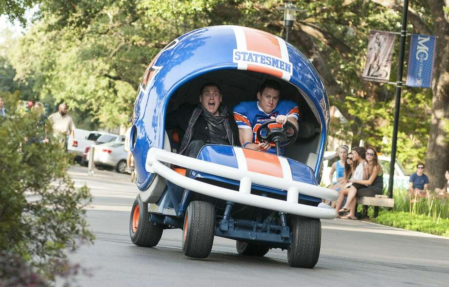 """Co-stars Jonah Hill (left) and Channing Tatum keep the laughs rolling in the manic sequel """"22 Jump Street."""" Photo: Glen Wilson, Sony Pictures"""