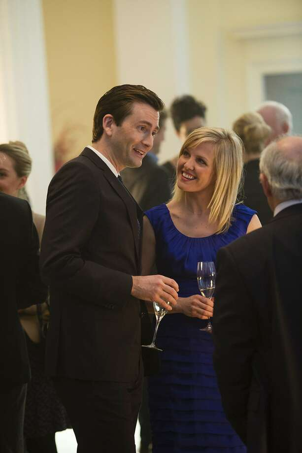"David Tennant as Will Burton and Ashley Jensen as wife Kate in ""The Escape Artist."" Photo: Masterpiece, PBS"