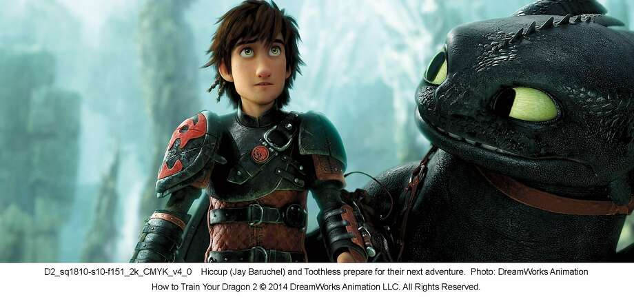 "Hiccup (Jay Baruchel) and Toothless prepare for their next adventure in, ""How to Train Your Dragon 2."" Photo: DreamWorks Animation"
