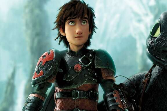 "Hiccup (Jay Baruchel) and Toothless prepare for their next adventure in, ""How to Train Your Dragon 2."""