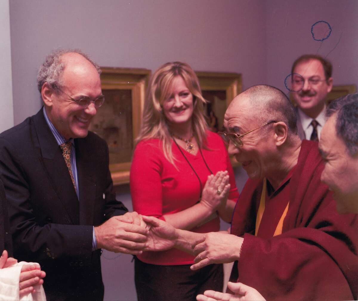 Shep Gordon and the Dalai Lama, in an archival photo from SUPERMENSCH.