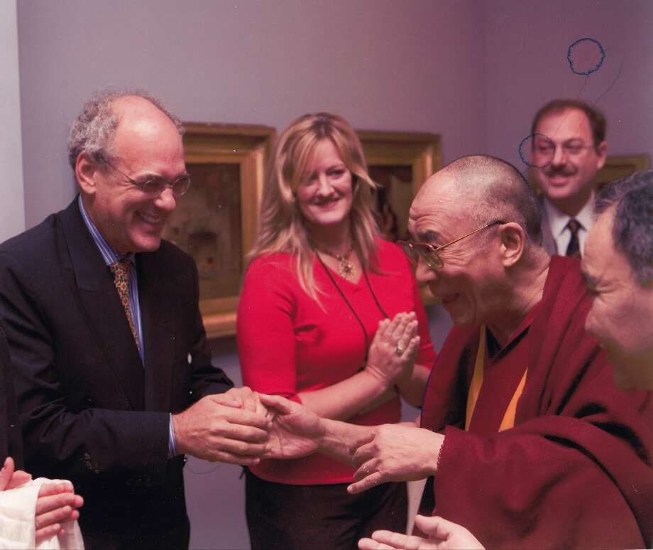 "Hollywood agent Shep Gordon (left), the subject of ""Supermensch,"" became a devotee of the Dalai Lama (third from left). Photo: RADiUS-TWC"