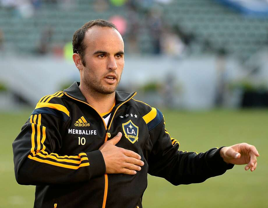 LOS ANGELES, CA - MAY 25:  Landon Donovan #10 of Los Angeles Galaxy reacts to his supporters after a 4-1 win over the Philadelphia Union at StubHub Center on May 25, 2014 in Los Angeles, California.  (Photo by Harry How/Getty Images) Photo: Harry How, Getty Images