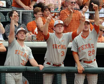 Texas   Blake Goins (28) Freshman Righthanded pitcher High school: Pearland Goins set a career high in strikeouts with three against Texas State. Photo: Eric Christian Smith, For The Chronicle