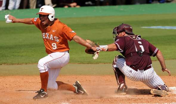 Texas   C.J Hinojosa Sophomore Infielder High school: Klein Collins Hinojosa has played in all 62 of the Longhorns' games and ranked third on the team in RBIs. Photo: Eric Christian Smith, For The Chronicle
