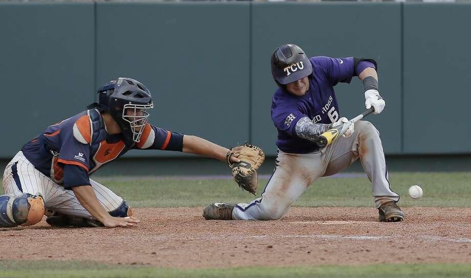 TCU Kyle Bacak Senior Catcher High school: Seven Lakes Bacak had 43 hits, 18 RBIs and 23 runs scored in 160 at-bats this season. Photo: Brandon Wade, Associated Press