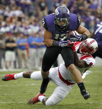 TCU Ty Slanina Freshman Outfielder High school: East Bernard  As a senior, Slanina earned first-team all-state recognition. He played wide receiver for the Horned Frogs this fall as a true freshman. Photo: Fort Worth Star-Telegram, MCT Via Getty Images / 2013 MCT